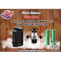 Eleaf Pico Dual 200w +  Billow V2 + 2 аккумулятора